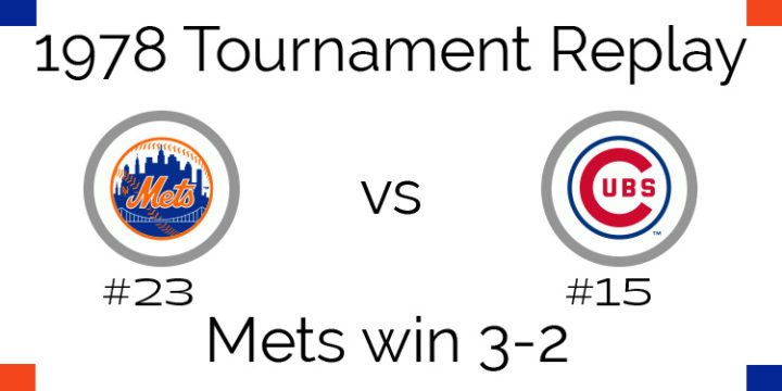 1978 Tournament Results Mets beat Cubs in 5