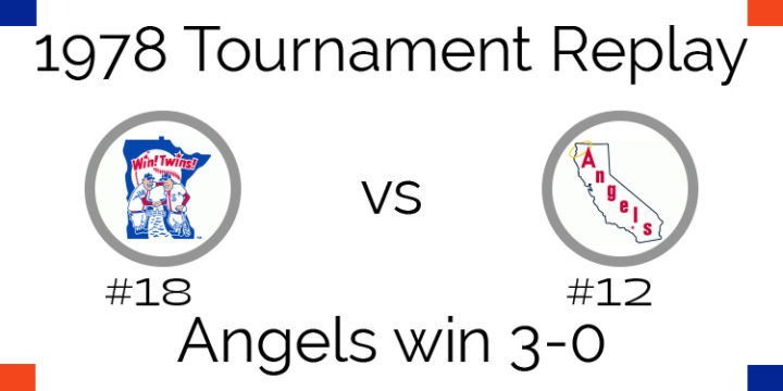 1978 Tournament Results Angels beat Twins 3-0
