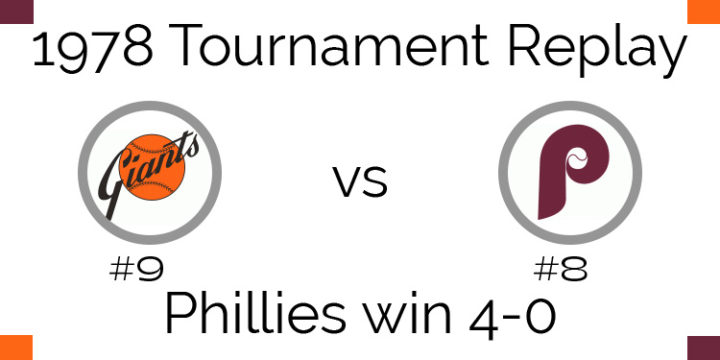 1978 Tournament Results – Phillies beat Giants 4-0