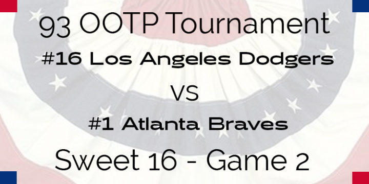 Out Of The Park 1993 Tournament – Game 2 – 16 Dodgers vs 1 Braves
