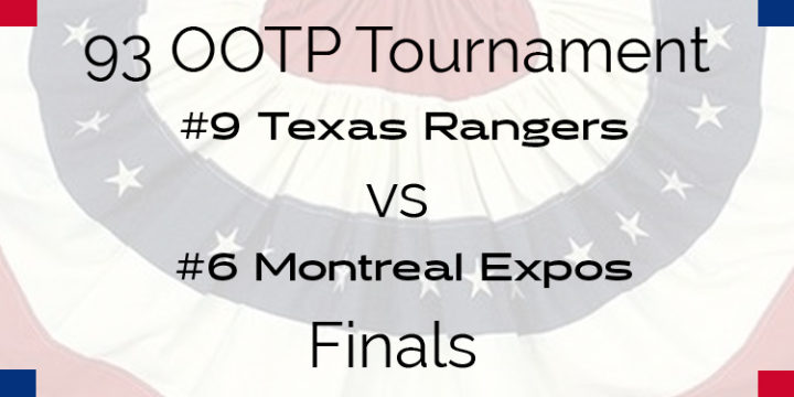 Out Of The Park 1993 Tournament – Finals – Rangers vs Expos