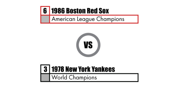 Pennant Winners Tournament 86 Red Sox vs 78 Yankees
